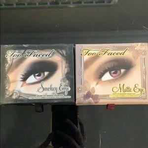 Too Faced Matte/Smokey Eye Palette Bundle